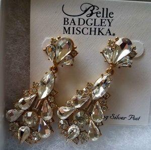 Badgley Mischka chandelier earrings.